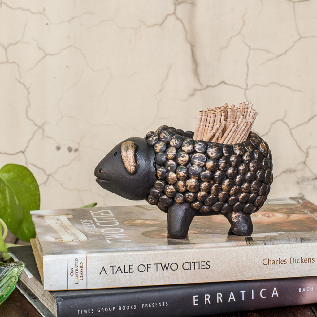 Baa Baa Black Sheep Toothpick Holder