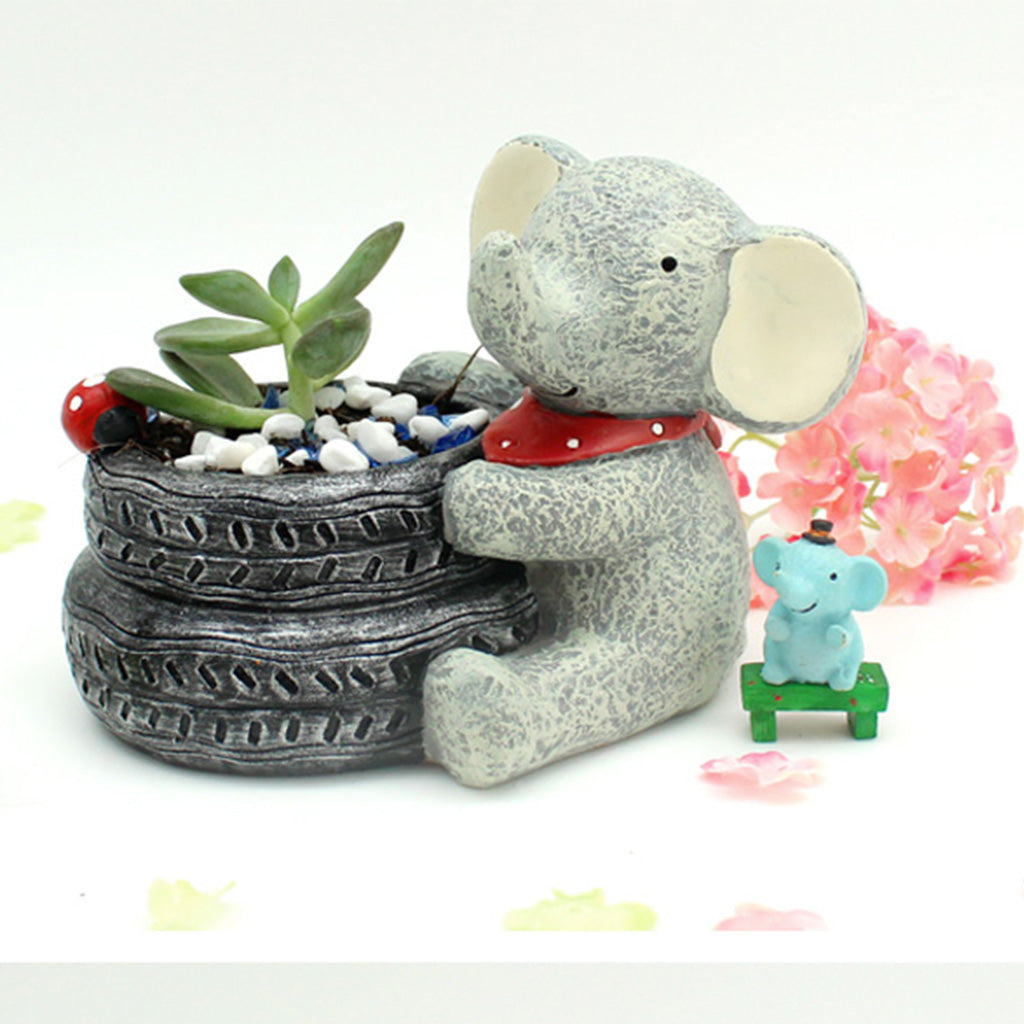 Baby Elephant Resin Succulent Pot