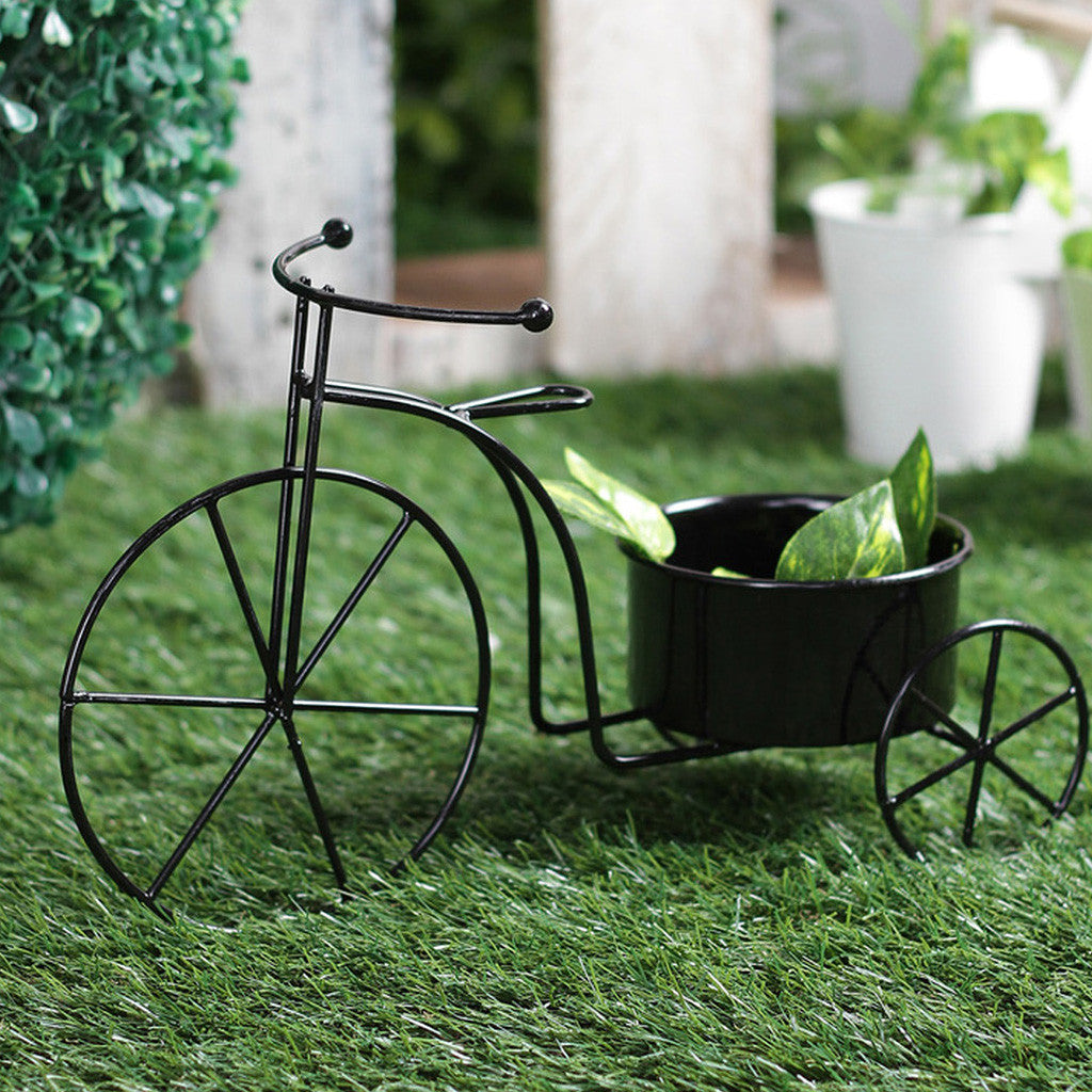 Big Black Bicycle Planter Garden Essentials myBageecha - myBageecha