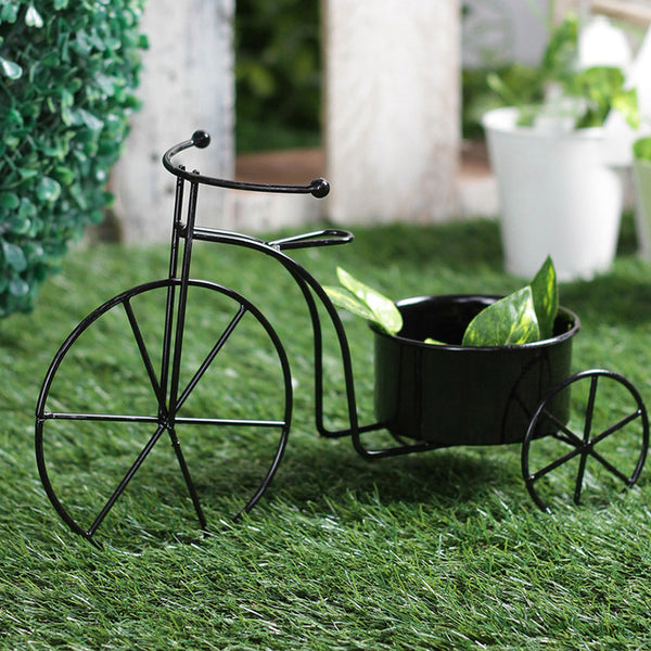 Big Black Bicycle Planter