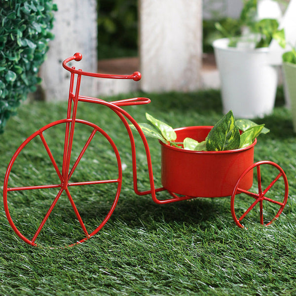 Big Red Bicycle Planter