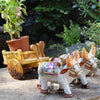 Hand Decorated Ceramic Bullock Cart