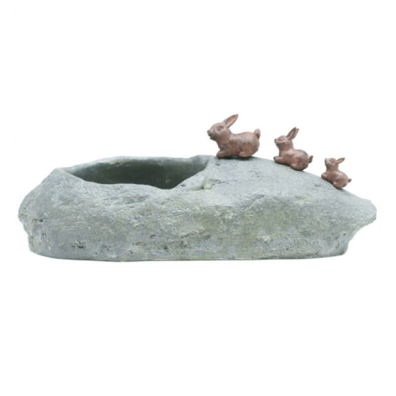 Cute Hopping Rabbits Resin Succulent Pot