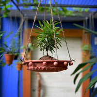 Flat Hanging Terracotta Planter