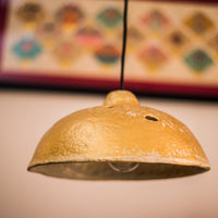 Golden Bliss - Paper Mache Ceiling Lamp