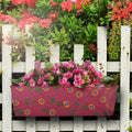 Hand Painted Metal Rectangular Balcony Planter Garden Essentials myBageecha - myBageecha