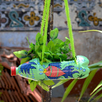 Hand-Painted Marine Life Fish Horizontal Pot Garden Essentials myBageecha - myBageecha