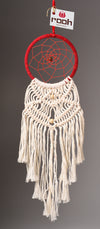 Dream Catcher Red and White Woven