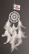 Dream Catcher  White Crochet Car Hanging