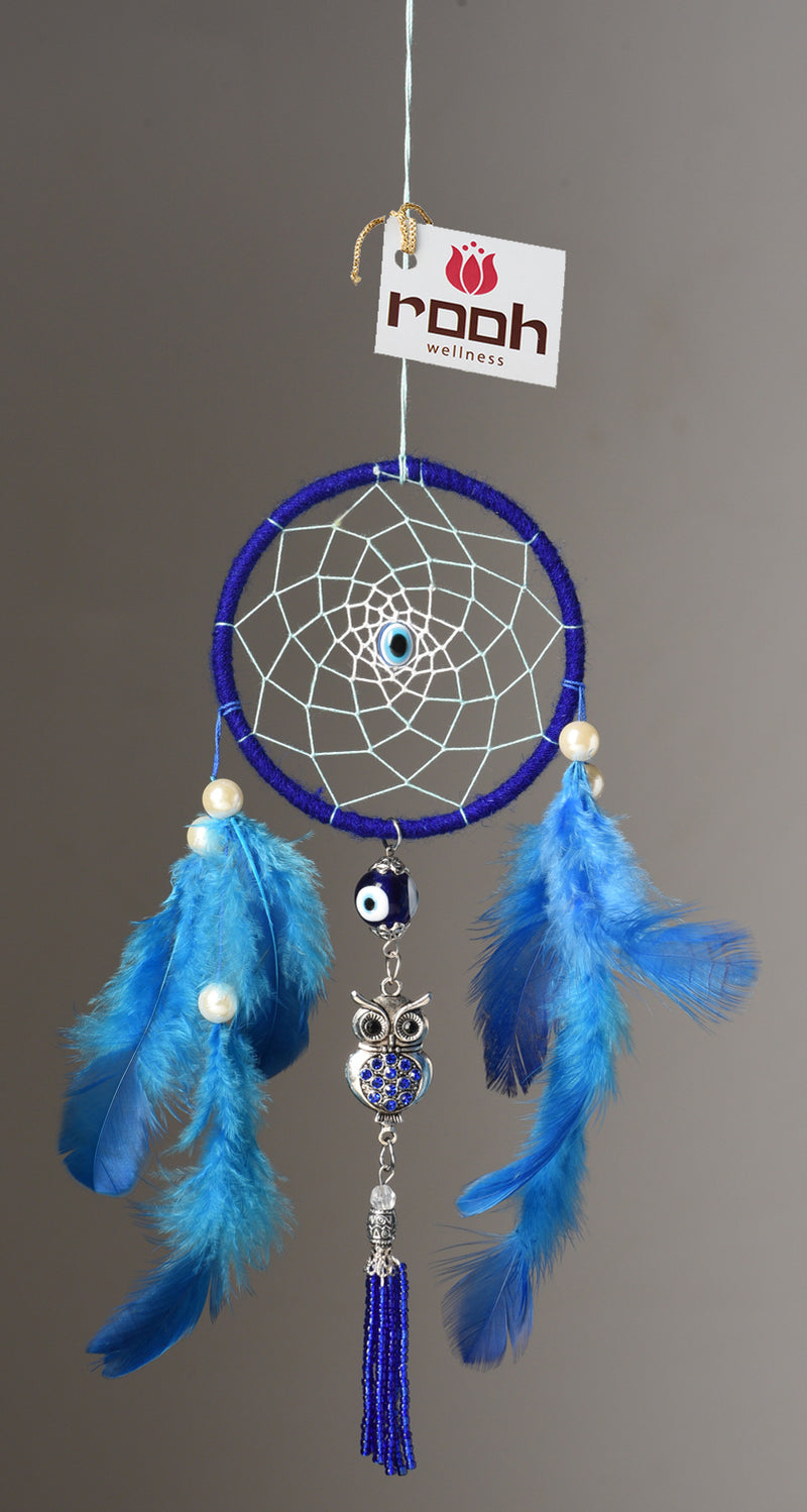 Dream Catcher   Evil Eye and Owl Car Hanging