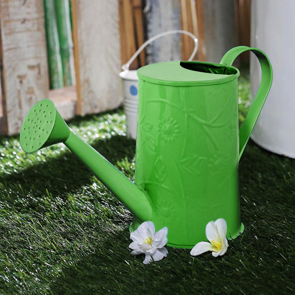 Design Embossed Metal Green Watering Can Garden Essentials myBageecha - myBageecha