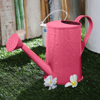Design Embossed Metal Pink Watering Can Garden Essentials myBageecha - myBageecha