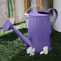 Design Embossed Metal Purple Watering Can Garden Essentials myBageecha - myBageecha