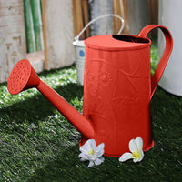 Design Embossed Metal Red Watering Can Garden Essentials myBageecha - myBageecha