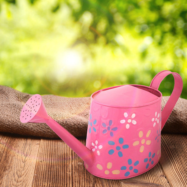 Hand Painted Metal Pink Watering Can
