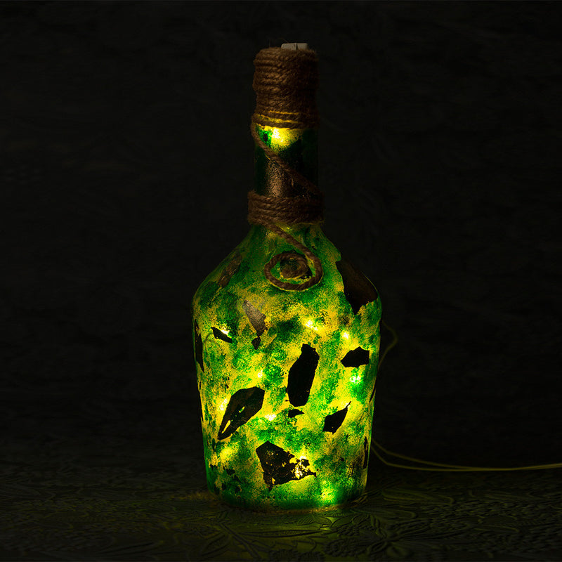 Peridot Bottle Lamp Garden Essentials myBageecha - myBageecha