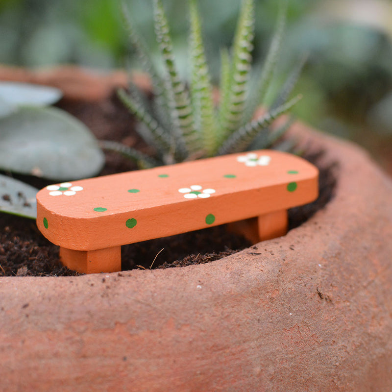 Miniature Cute Dotted Bench Decor