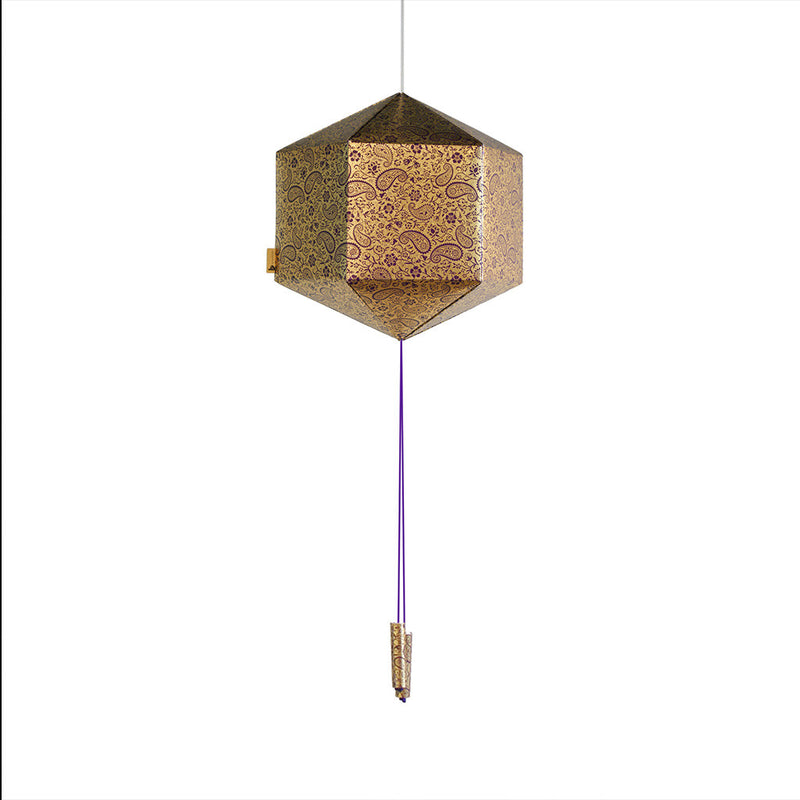Purple & Gold Paper Lantern Decor myBageecha - myBageecha