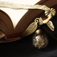 Quidditch Snitch HP inspired Bookmark