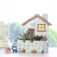 Rocky Hut Resin Succulent Pot