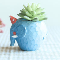 Cute Elephant Resin Succulent Pot Garden Essentials myBageecha - myBageecha