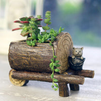 Cute Lumberjack Resin Succulent Pot