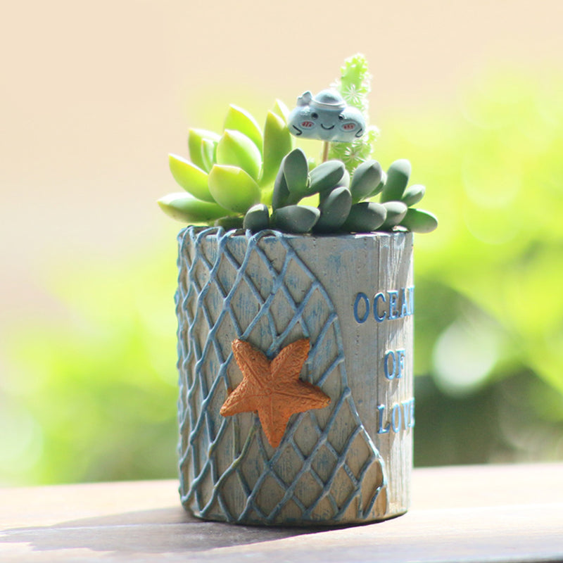 Ocean of Love Starfish Resin Succulent Pot