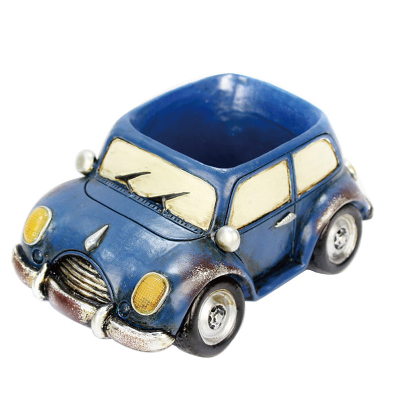 Retro Small Car Resin Succulent Pot