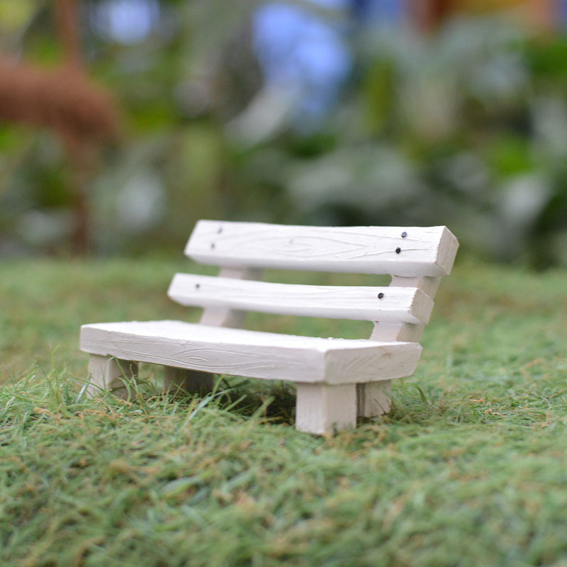 Miniature Rustic Park Bench Decor