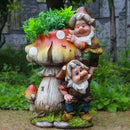 Two Gnome Climbing Mushroom Planter Garden Essentials myBageecha - myBageecha