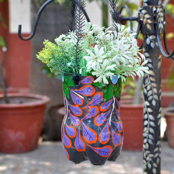 Hand-painted Flower Theme Vertical Pot