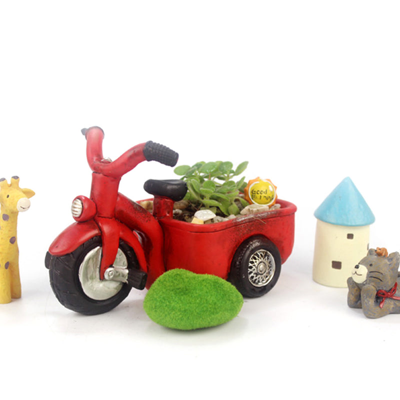 Vintage Tricycle Resin Succulent Pot
