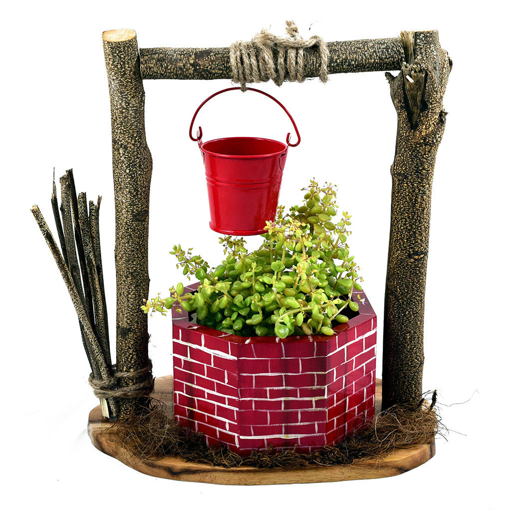 Wishing Well Planter Garden Essentials myBageecha - myBageecha