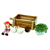 Wooden Cart Planter Garden Essentials myBageecha - myBageecha