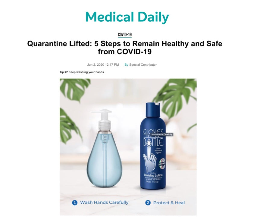 Medical Daily Recommends Gloves In A Bottle