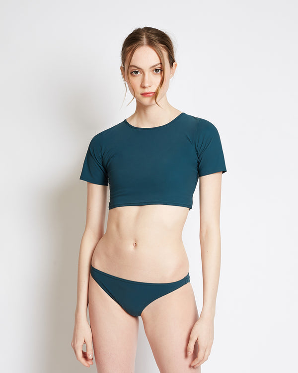 swimwear emerald crop top
