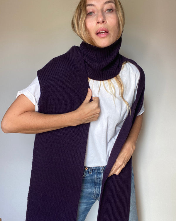 cashmere turtleneck scarf blackberry