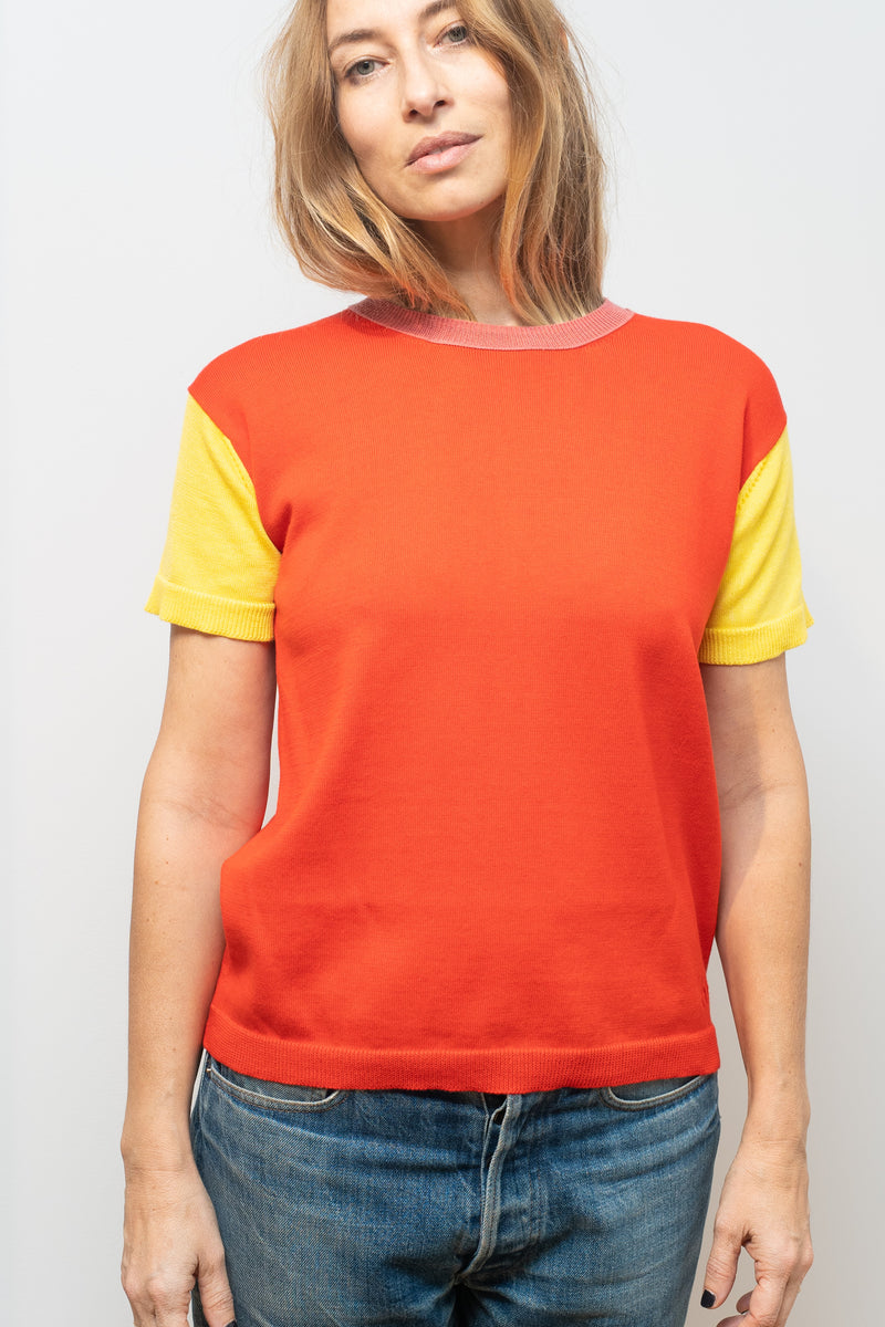 t-shirt coton soie andré multicolore pop