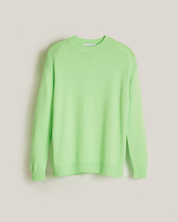 fluorescent virgin wool sweater bettina green