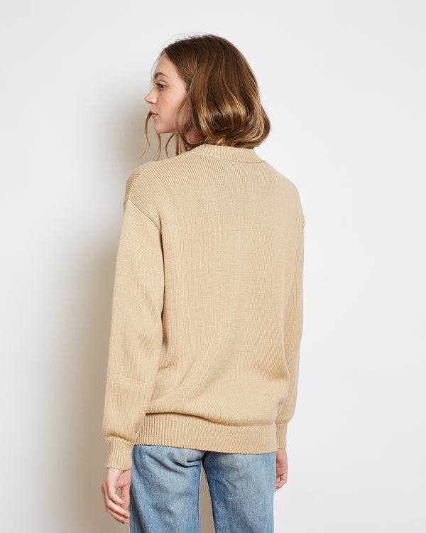 organic cotton sweater bob beige