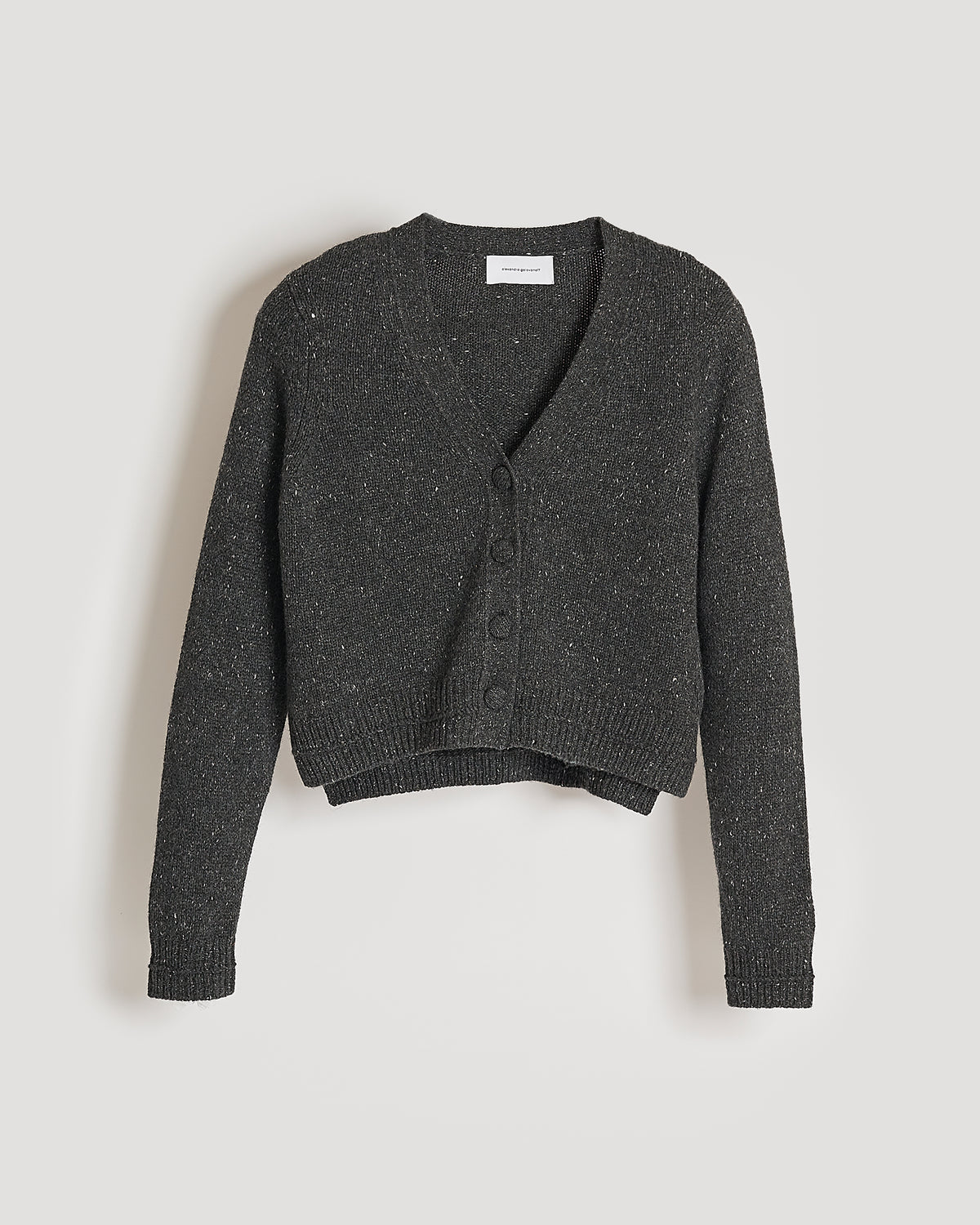 cardigan cachemire thérèse crop tweed black