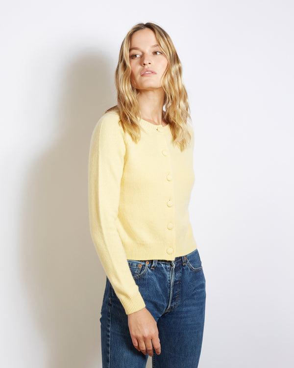 cashmere cardigan mila yellow