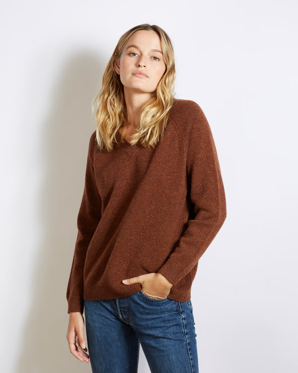 pull laine vierge et cachemire catherine brown chiné
