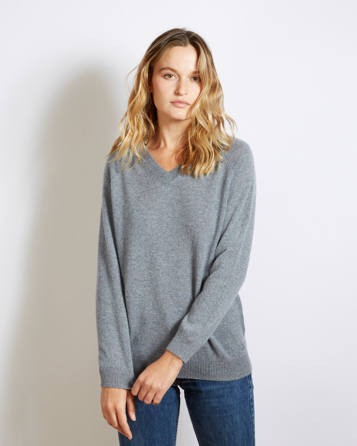 pull cachemire super light catherine gris