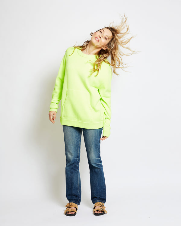 fluorescent sweatshirt cnag yellow