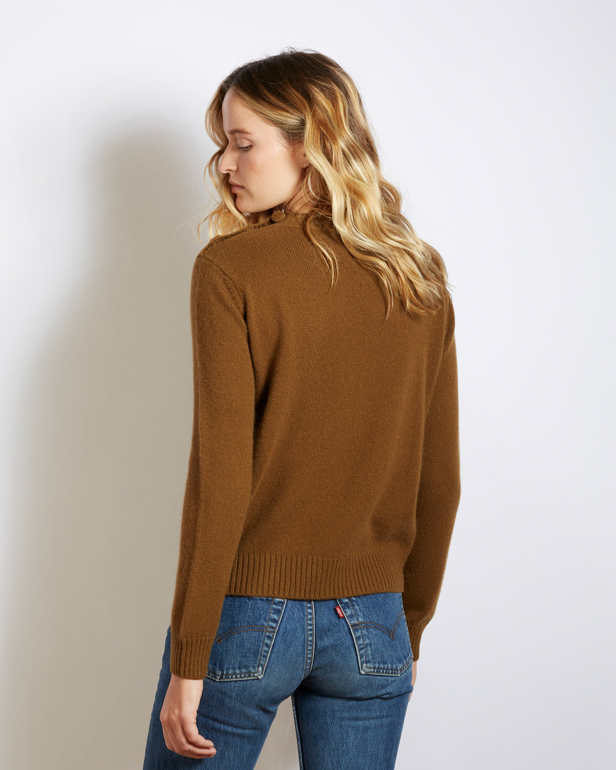 pull cachemire laine coco brown