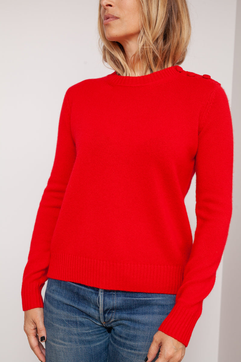 pull cachemire coco rouge