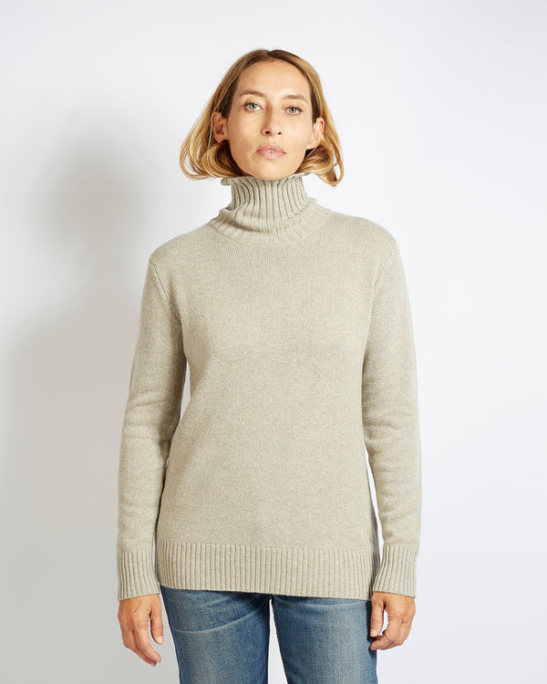 cashmere turtleneck pierre beige