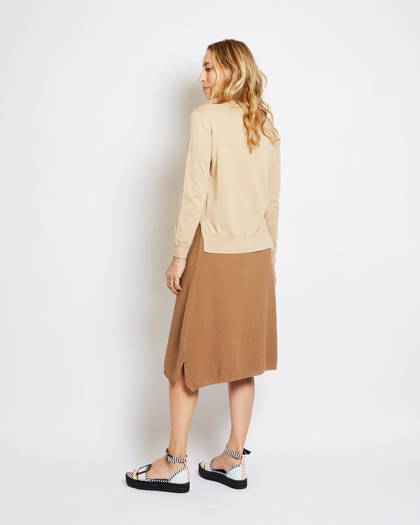 organic cotton sweater francoise beige
