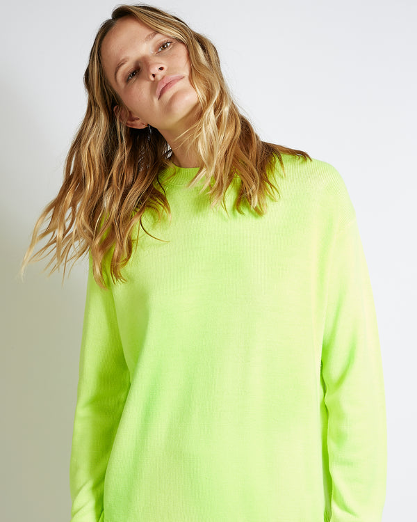 fluorescent virgin wool sweater bettina yellow